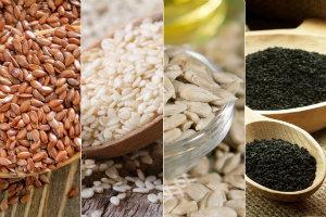 4 nasiona, które warto włączyć do diety [fot. collage Senior.pl]