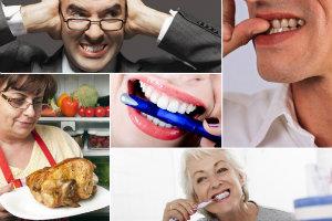 5 nawyków które niszczą zęby - pozbądź się ich natychmiast! [fot. collage Senior.pl]