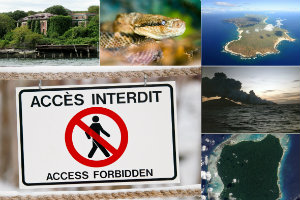 5 wysp zakazanych dla zwykłych turystów [fot. collage Senior.pl]