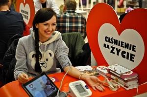 """""""Ciśnienie na życie"""". Ponad 40 tys. Polaków poznało wiek swojego serca [fot. ciśnienie na życie. Wawa]"""