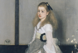 """""""Miss Cicely Alexander"""" Whistlera w Muzeum Narodowym w Warszawie [fot. James Abbott McNeill Whistler, Harmonia w szarości i zieleni Miss Cicely Alexander]"""