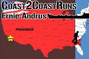 93-latek Ernie Andrus przebiegł przez Stany Zjednoczone - od Pacyfiku po Atlantyk [fot. Coast2coastruns]