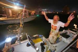 Aleksander Doba dopłynął do Canaveral. 67-letni Polak pokonał w kajaku Atlantyk [fot. aleksanderdoba.pl]