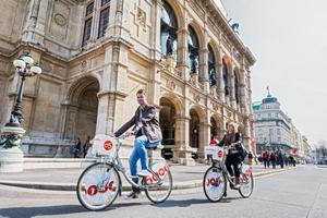 Atrakcje rowerowe w Wiedniu [Fot. Gewista]