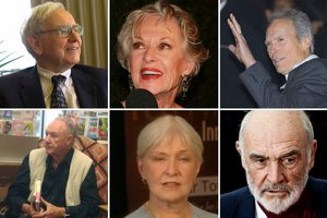 Clint Eastwood, Sean Connery, Tippi Hedren - oni skończą 85 lat w 2015 roku [fot. collage Senior.pl]