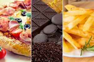 Czekolada, pizza i frytki uzależniają jak narkotyki? [fot. collage Senior.pl]