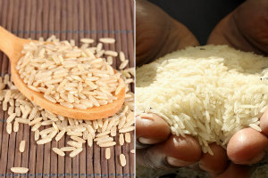 Czym różni się ryż biały od brązowego? [fot. collage Senior.pl]