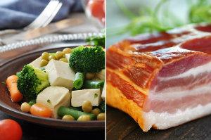 Dieta wegetariańska niezdrowa dla środowiska? [fot. collage Senior.pl]