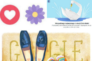 Dzie� Matki w Google Doodle. I na Facebooku [fot. collage Senior.pl]