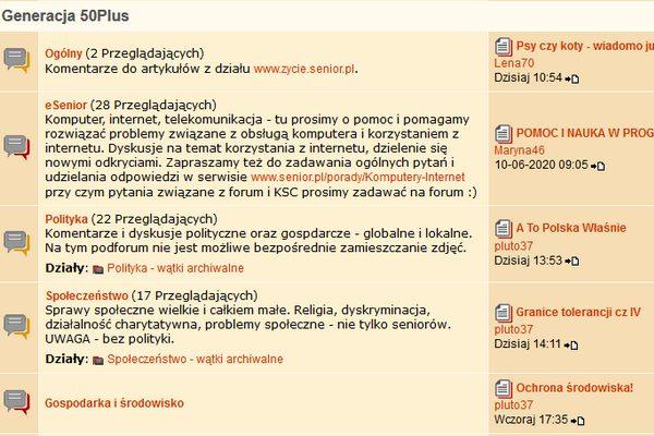 Fora internetowe: dyskusje pomagają poprawić samopoczucie [fot. Senior.pl]