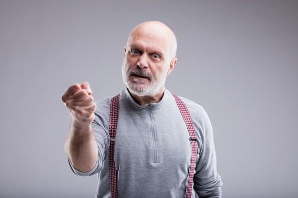 Gniew szczególnie zagraża zdrowiu ludzi starszych [Fot. Giulio_Fornasar - Fotolia.com]