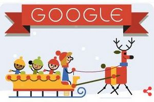"""Google Doodle i życzenia """"Wesołych Świąt!"""" w różnych językach [fot. Google]"""