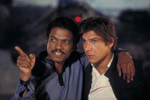 Gwiezdne Wojny: Billy Dee Williams wróci jako Lando Calrissian [Billy Dee Williams i Harrison Ford fot. Disney]