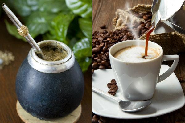 Jak nie przytyć w okresie świątecznym? Trzeba pić Yerba mate lub kawę [fot. collage Senior.pl]