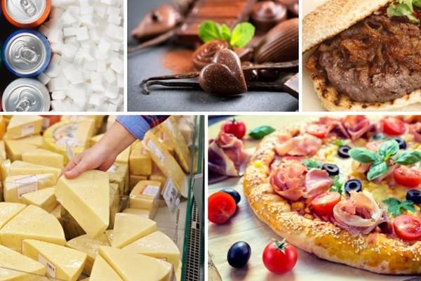 Jedzenie, które uzależnia - 5 najpowszechniejszych produktów [fot. collage Senior.pl]