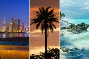 Jeśli nie Egipt i Wyspy Kanaryjskie to gdzie na plażę zimą? 3 zaskakujące propozycje [fot. collage Senior.pl]