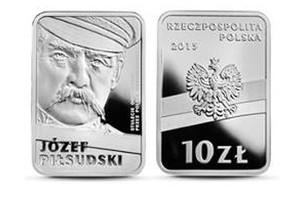 Józef Piłsudski na monetach [fot. NBP]