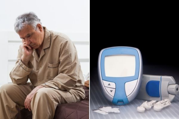 Już jedna bezsenna noc zwiększa ryzyko cukrzycy [fot. collage Senior.pl / Canva]