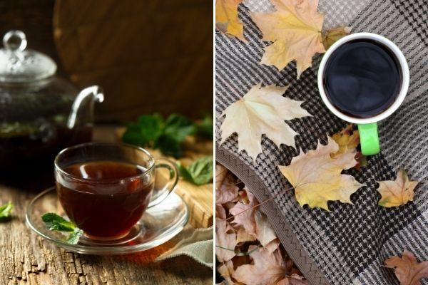 Kawa i herbata szczególnie polecana chorym na cukrzycę [fot. collage Senior.pl / Canva]