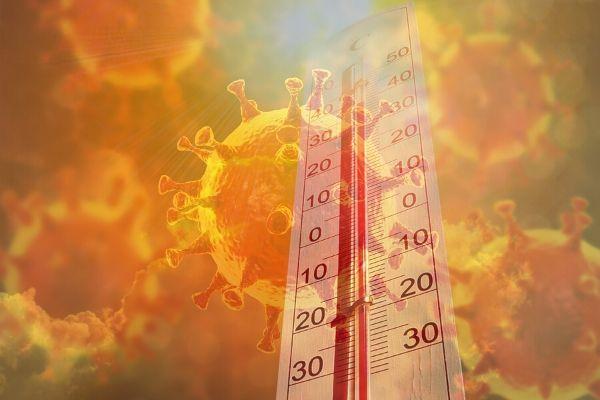 Koronawirus - ciepła pogoda nie zmniejszy rozprzestrzeniania się choroby? [fot. collage Senior.pl / Canva]
