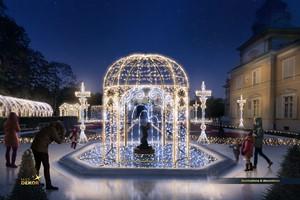 Królewski Ogród Światła po raz kolejny rozbłyśnie w Wilanowie [fot. Muzeum Pałacu Króla Jana III w Wilanowie]