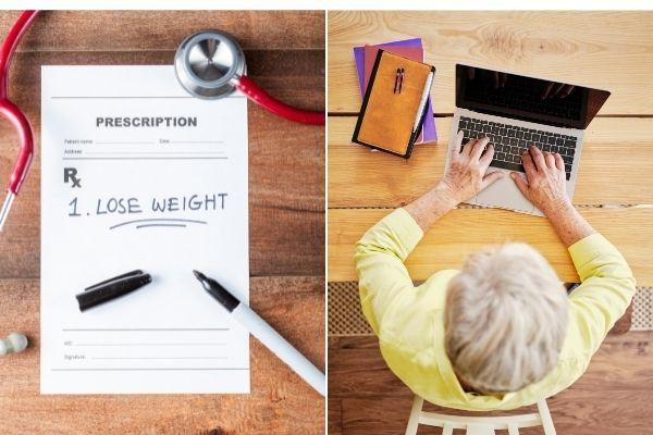 Kształcenie ustawiczne i prawidłowa masa ciała - oto klucze do długowieczności [fot. collage Senior.pl / Canva]