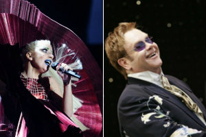 Elton John fot. Universal Music Poland / Lady GaGa fot. MTV