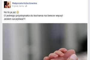 Małgorzata Kożuchowska została mamą [fot. Facebook / Małgorzata Kożuchowska]