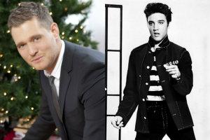 Michael Bublé na nowej płycie... Elvisa Presleya [fot. collage Senior.pl / Warner Music Poland]