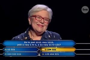 """""""Milionerzy"""" - 60-letnia nauczycielka wygrała główną nagrodę [Maria Romanek, fot. TVN]"""
