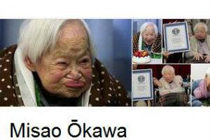 Misao Okawa, najstarsza osoba na świecie, świętuje 116 urodziny [Misao Okawa, fot. Google]