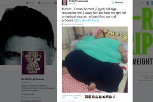Najcięższa kobieta na świecie walczy z wagą [fot. Twitter /  Dr Muffi Lakdawala]