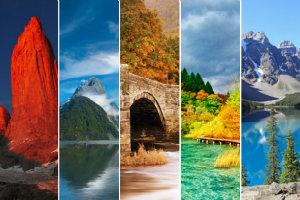 Niezwykłe parki narodowe z czterech stron świata [fot. collage Senior.pl]