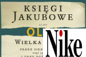 "Nike 2015: ""Księgi Jakubowe"" Olgi Tokarczuk [fot. collage Senior.pl]"