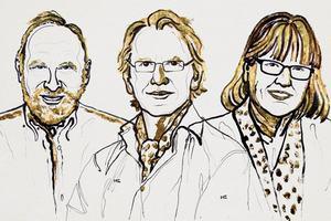 Nobel z Fizyki 2018 za przełomowe odkrycia w dziedzinie fizyki laserów [fot. Nobel Prize]