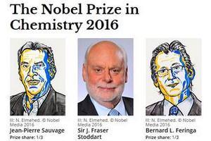 Nobel z chemii 2016 - za opracowanie i syntezę maszyn molekularnych [fot. Nobel Prize]