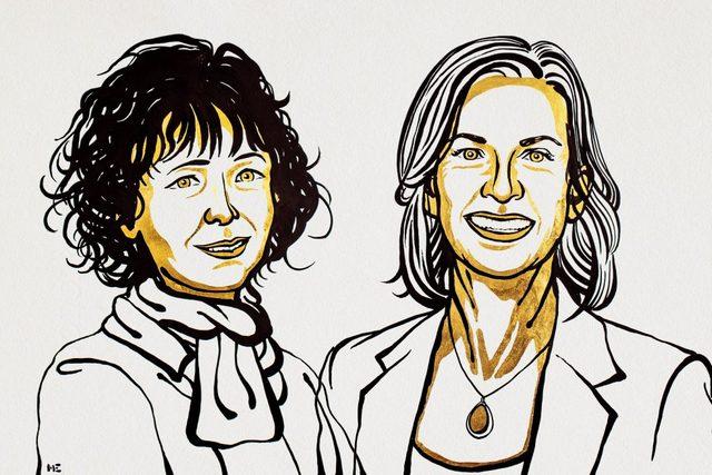 """Nobel z chemii 2020 za """"nożyczki genetyczne"""" [fot. noble prize]"""