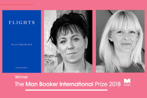 Olga Tokarczuk z Nagrodą Bookera 2018 [fot. The Man Booker International Prize]