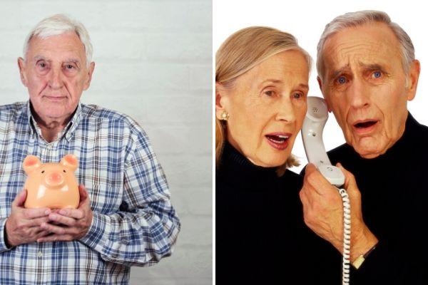 Oszustwa: seniorzy cześciej narażeni na nie ze strony rodziny niż obcych [fot. collage Senior.pl / Canva]