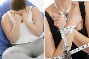 Otyłość i anoreksja - różne formy tego samego problemu? [fot. collage Senior.pl]
