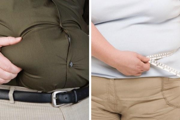 Otyłość stwarza inne zagrożenie u mężczyzn niż u kobiet [fot. collage Senior.pl]