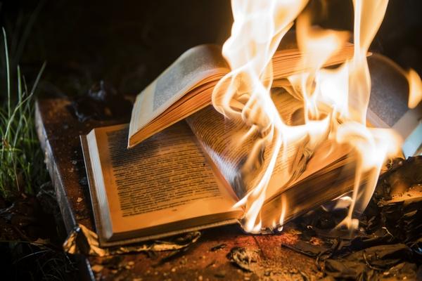 Palenie książek. Komunikat Biblioteki Narodowej  [© denissimonov - Fotolia.com]