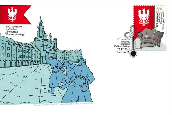 Poczta Polska upamiętnia 100. rocznicę wybuchu Powstania Wielkopolskiego  [fot. Poczta Polska]