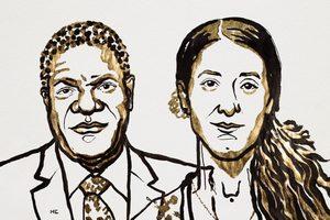 Pokojowy Nobel 2018  za walkę z przemocą seksualną podczas wojny. Denis Mukwege i Nadia Murad [fot. Nobel Prize]