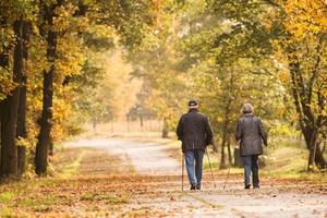 Polacy 50+ aktywni fizycznie, ale nie wydają pieniędzy na sport [Nordic walking, © goldencow_images - Fotolia.com]