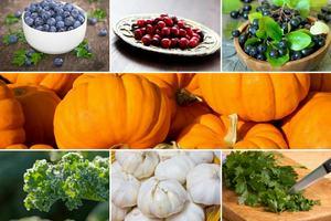 """Polskie """"superfoods"""": warto sięgać po rodzime warzywa i owoce [fot. collage Senior.pl]"""