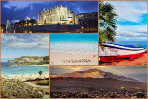 Popularne miejsca na wakacje: 5 hiszpańskich wysp, które Polacy wybierają najczęściej  [fot. collage Senior.pl]