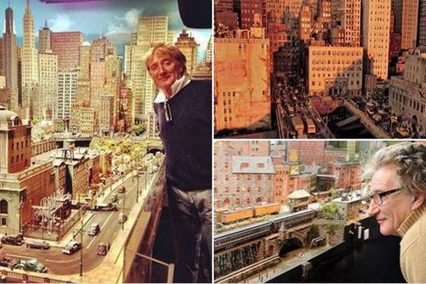Rod Stewart przez 26 lat budował makietę kolejki [fot. Lilian Chan / twitter.com]