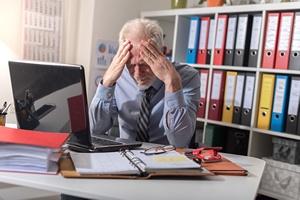 Stres w pracy - tak groźny dla zdrowia, jak bierne palenie  [© thodonal - Fotolia.com]