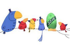 Sylwester 2015 z Google Doodle [fot. Google]